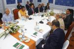 Hon'ble MoS(I/C) PNG at a bilateral meeting with the Energy Adviser to the Prime Minister of the People's Republic of Bangladesh at Bhubaneswar on 6th Feb'16.