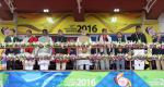 Hon'ble PM at 12th South Asian Games at Guwahati which he formally declared open. Hon'ble MoS(I/C) PNG attending the inauguration ceremony on 5th Feb'16.