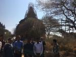 Visit of Hon'ble MoS(I/C) PNG to the Lord Vishnu Temple in Bagan(central Myanmar) on 23rd Feb'17, the 1105 AD built Buddhist Temple being renovated by Archeological Survey of India(ASI)