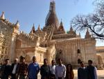 Visit of Hon'ble MoS(I/C) PNG to the Ananda temple in Bagan(central Myanmar) on 23rd Feb'17, the 1105 AD built Buddhist Temple being renovated by Archeological Survey of India(ASI)