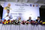 """Hon'ble MoS(I/C) PNG addressing during the flagging off the Dhanwantari """"Grameen Mobile Hospital"""" - a Mobile Hospital Van under the CSR initiative by Engineers India Limited to Odisha on 23rd Mar'17"""