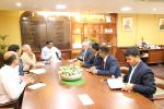 Hon'ble MoS(I/C) PNG discussing with H.E. Nepal Ambassador about ongoing oil cooperation with Nepal on 23rd Mar'17