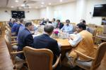Hon'ble MoS(I/C) PNG in a meeting with the Gazprom delegation led by the Hon'ble Dy. Minister of Russia at New Delhi on 30th Mar'17.