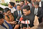 Hon'ble MoS(I/C) PNG Interacted with media after the signing of MoUs & apprised them with the details of investments these MoUs will bring to Madhya Pradesh on 23rd Oct'16