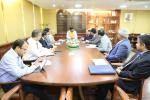 Hon'ble MoS(I/C) PNG in a meeting with the delegation from Saudi Aramco at New Delhi on 30th Mar'17