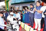 Hon'ble MoS(I/C) PNG Sh Dharmendra Pradhan along with Hon'ble MP Smt Poonam Mahajan & Hon. Maharashtra Education Minister during the launch of CNGScooters in Mumbai on 01st Jan'17