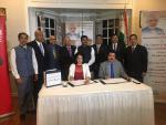 Hon'ble MoS(I/C) PNG witnessed MOU between Oil India & University of Houston for pilot study of CO2 capture technology application in Assam oil fields at Houston on 07th Mar'17