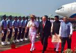 Hon'ble MoS(I/C) PNG and Hon'ble MoS Defence received H.E. President of Russia in Goa on 15th Oct'16