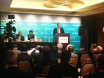 Hon'ble MoS(I/C) PNG addressing Press in CERA week oil & gas Conference at Houston on 06th Mar'17