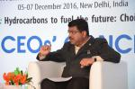 Hon'ble MoS(I/C) PNG addressing CEO's Enclave at Petrotech2016 at Taj Palace, New Delhi on 5th Dec'16