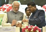 Hon'ble PM launching the Petrotech App at Petrotech2016 at Vigyan Bhawan New Delhi on 5th Dec'16