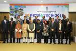 Hon'ble MoS(I/C) PNG and other foreign ministers at the august company of Hon'ble PM at the inaugural session of Petrotech2016 at Vigyan Bhawan New Delhi on 5th Dec'16