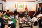 Hon'ble MoS(I/C) PNG Shri Dharmendra Pradhan Called on H.E. Mr Ranil Wickremesinghe,Prime Minister of Sri Lanka on 05th Oct'16 at New Delhi