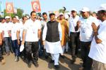 Hon'ble MoS(I/C) PNG participating in Run for Unity as part of 'Rashtriya Ekta Diwas' the commemoration of birth anniversary of Sardar Patel at Bhubaneswar on 31st Oct'16