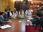 Hon'ble Union Minister of P&NG and SD&E had a meeting with CM Tripura at New Delhi on 20th March'18 wherein they discussed about  various projects for Tripura in the field of oil & gas and Skill Development.