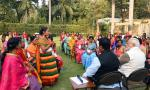 One of the women beneficiaries of PMUY speaking about the revolutionary changes brought about in poor women's lives by PMUY at PMLPG Panchayat held at Hon'ble PM's residence on 13th Feb'18 in the august presence of Hon'ble PM and Hon'ble Union Minister of P&NG and SD&E