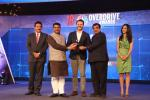 Hon'ble Union Minister of P&NG and SD&E along with Hon'ble Union Minister of Road Transport & Highways, Shipping & Water Resources presenting the awards to the at the 18th CNBC-TV18  Overdrive Awards at New Delhi on 05th Feb'18