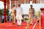 Hon'ble Union Minister of P&NG and SD&E receiving the 'Guard of Honour' at the passing out parade of the 43rd Batch of CT/UT/GD at 2nd TRG Battalion KRTC, Munduli, Cuttack on 4th Feb'18