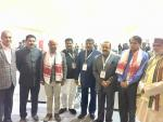 Hon'ble Union Minister of P&NG and SD&E with CM, Assam and other Union and State Ministers at Advantage Assam at Guwahati on 3rd Feb'18