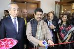 "Union Minister of P&NG and SD&E Shri Dharmendra Pradhan ‪Inaugurated a symposium & photo exhibition ""The Mangalajodi Inheritance"" organised by ONGC & The Bhubaneswar Bird Walks at New Delhi on 06th Jan'18 . Japanese Ambassador H.E. Kenji Hiramatsu also graced the occasion"