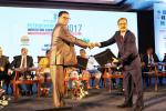 Union Minister of P&NG and SD&E  witnessing the signing of MoU between Indian Oil Corporation and IDCO at the Petrochemical Investors Conclave, Bhubaneswar on 16th Nov'17. MoU was for Development of Plastic & Textile Industries in Eastern India including Odisha.