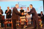 Union Minister of P&NG and SD&E  witnessing the signing of MoU between Indian Oil Corporation and MCPI at the Petrochemical Investors Conclave, Bhubaneswar on 16th Nov'17. MoU was  MCPI for setting up a textile park in Odisha.
