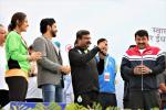 Union Minister of P&NG and SD&E addressing the gathering during PedalDelhi 2017, a PCRA and MoPNG initiative to motivate people for fuel conservation. At JLN Stadium, New Delhi on 5th Nov'17