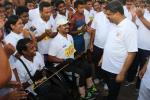 Union Minister of P&NG and SD&E interacting with some of the Divyang participants of the Half Marathon in Bhubaneswar on 22nd Oct'17 organised by BSF in commemoration of martyred Jawans.