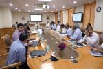 MoS(I/C) PNG reviewing the initial progress of the software for Online Selection of LPG Distributors with Senior Ministry & OMCs officials at New Delhi on 17th Aug'17