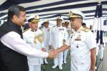 MoS(I/C) PNG with a delegation of Bangladesh Navy to India led by Rear Admiral M Shaheen Iqbal at Goa Shipyards at Goa on 12th Aug'17