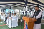 MoS(I/C) PNG addressing as chief guest on the commissioning of ICGS Shaurya an indigenously built offshore patrol vessel by Goa Shipyards Ltd. At Goa on 12th Aug'17