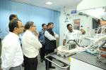 Hon'ble MoS(I/C) PNG inspecting the various facilities of Research & Development(R&D) Centre of Indian Oil Corporation Ltd. at Faridabad on 22nd Jul'17