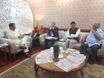 Hon'ble MoS(I/C) PNG in a discussion with the Director General of International Crops Research Institute for the Semi-Arid Tropics(ICRISAT) at New Delhi on 18th Jul'17