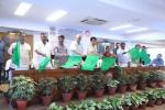 Hon'ble MoS(I/C) PNG along with Hon. Minister of Railways, Minister Tribal Affairs, Minister for Water Resources, River Development & Ganga Rejuvenation, Civil Aviation Minister, MoS Railways, MoS(I/C) IT & Communications flagged off new trains & passenger services on railway routes & stations across Odisha, MP, AP & Karnataka on 13th Jul'17