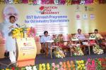Hon'ble MoS(I/C) PNG addressing the GST Outreach Program for Oil Industry Stakeholders(Dealers, Distributors,Contractors) at Bhubaneswar on 21st June'17