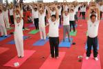 Hon'ble MoS(I/C) PNG participating in International YogaDay2017 Celebrations at Janata Maidan Bhubaneswar on 21st June'17