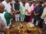 Hon'ble MoS(I/C) PNG performed Bhoomi Poojan for laying of concrete road in Dharwad, Karnataka at a cost of Rs 80 Cr, in Karnataka on 17th June'17