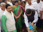 Hon'ble MoS(I/C) PNG planted a sapling at Indira Nagar, Hubballi, Karnataka on 17th June'17
