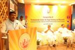 Hon'ble MoS(I/C) PNG addressing during the Inauguration Ceremony of Vivekananda Centre for Yoga Training & Research at New Delhi on 15th June'17 in the presence of Hon'ble Health Minister