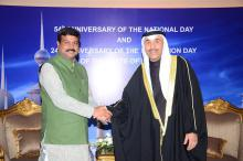 Hon'ble MoS(IC) PNG attending the National Day of Kuwait at New Delhi on 25th Feb'15 as Chief Guest.