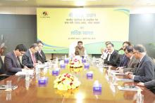 Hon'ble MoS(I/C) PNG had a meeting with senior ministry officials & GAIL (India) Limited officers on the opportunities & challenges in the contemporary Indian Gas Market on 31st Jan'17.