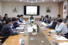 Union Minister of P&NG and SD&E Reviewed the status of ongoing Railway projects in Odisha including new tracks, electrification, passenger amenities and the roadmap for the future with senior Railway officials from the Railway Board, East Coast Railway and Rail Vikas Nigam Limited.‬ At New Delhi on 01st Dec'17